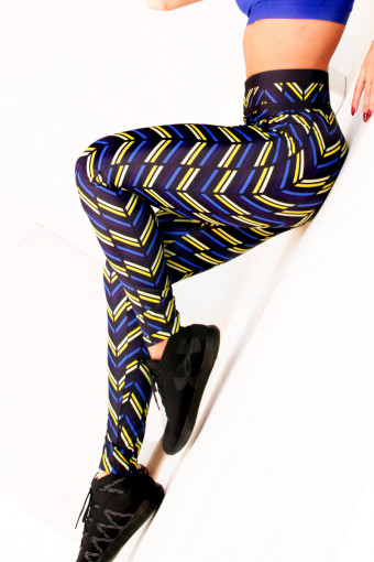 Лосины Vergo Basic  Zigzag Yellow