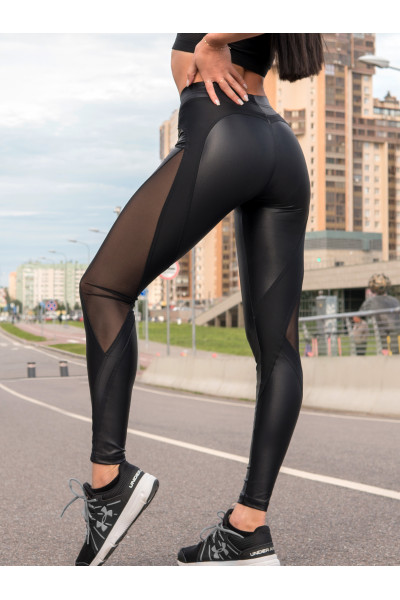 Лосины Vergo MAD LOVE Black Leather