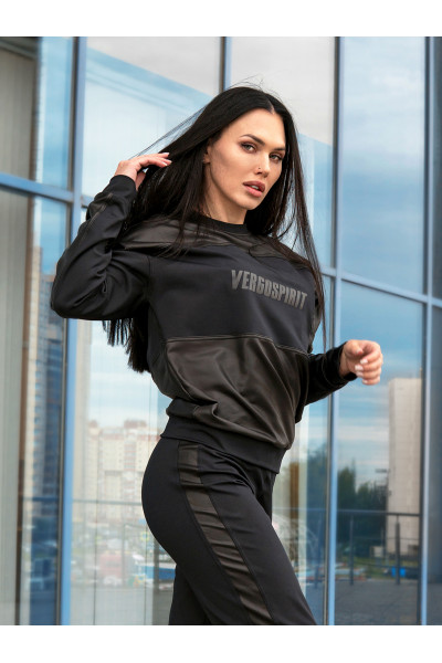 Свитшот Vergo Triplex Black Leather